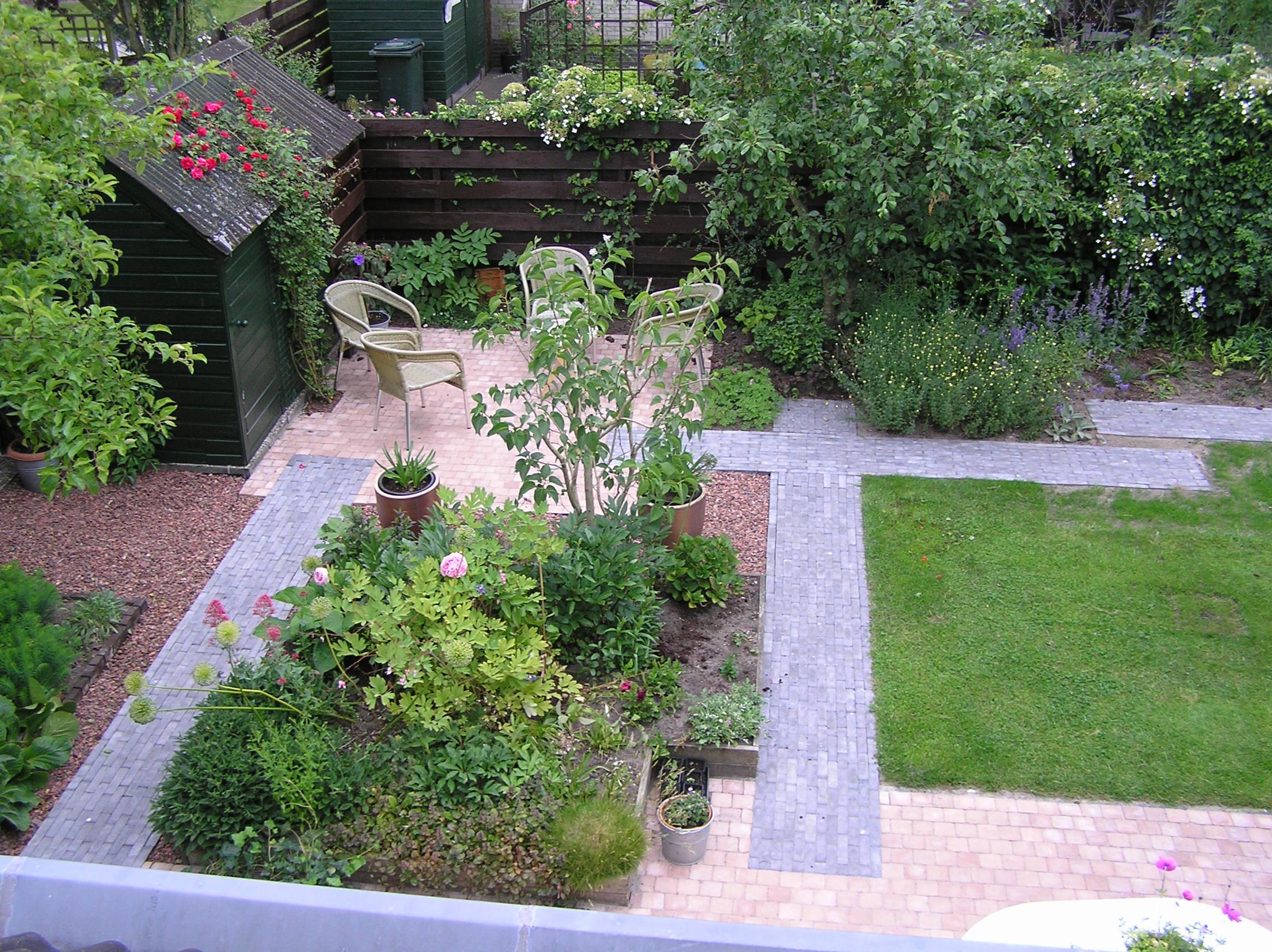 Tuin bij een vrijstaande woning